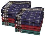 Betz 12 St. Herren Stoff Taschentücher Leo 8 Größe 40x40 cm 100% Baumwolle Farbe Dessin 1