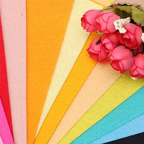 40pcs Filz Stoff zum Nähen Filz Basteln Blätter Handwerk Patchwork für Taschen, Geldbörsen, Puppen, Schneiden in Formen 10 x 15 cm