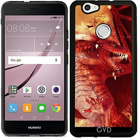 Coque Silicone pour Huawei Nova - Dragon Rouge by Illu-Pic.-A.T.Art