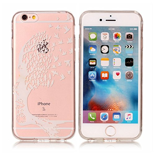 Yaking® Apple iPhone 6/6S Coque Silicone TPU Case Cover Gel Étui Housse pour Apple iPhone 6/6S 5-F