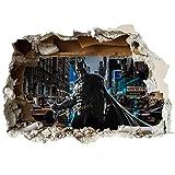 Wandaufkleber mit 3D-Effekt einer aufgeschlagenen Wand, aus Vinyl, Wanddekor für Autos, Motorräder, Wohnwagen, Häuser Customise4UTM, Vinyl, batman worlds end, 70cm x 49cm