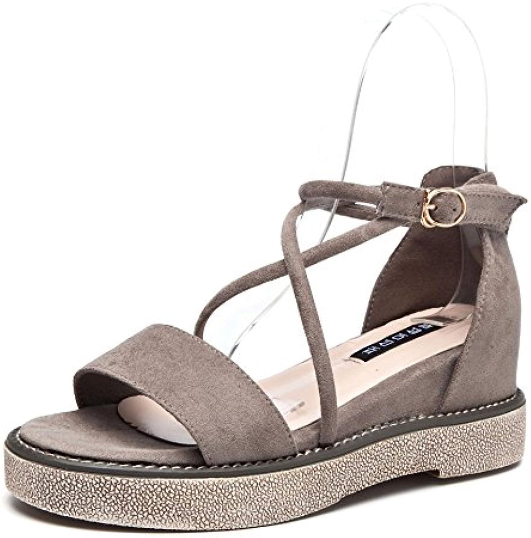 Nuevas sandalias y sandalias para mujer, gris, treinta y cinco