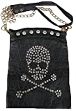 Rockabilly Punk Rock Baby Tasche Schwarz Strass Skull Totenkopf Schultertasche Bag