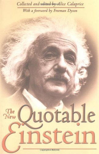 Portada del libro The New Quotable Einstein by Alice Calaprice (2005-03-14)