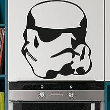 Vinilo de casco de soldado del imperio. Color negro. Medidas: 70x60cm