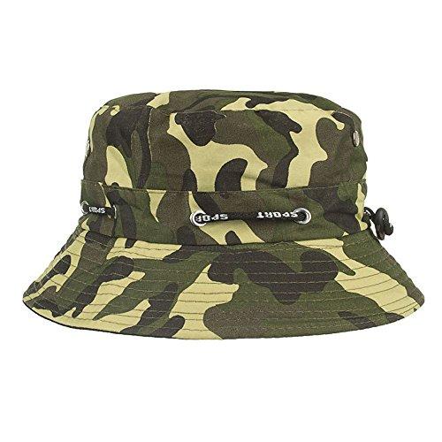 BURFLY Fischerhut für Herren und Damen Unisex Sport Hüte Einstellbare Cap Camouflage Boonie Hüte nepalesische Kappe Army Mens Fischer Hut ()