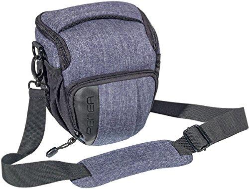 """PEDEA SLR-Kameratasche """"Fashion"""" Schultertasche Messenger Kameratasche Umhängetasche Kamera Tasche mit Regenschutz, Tragegurt und Zubehörfächern, Gr. M grau"""
