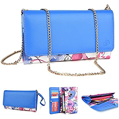 Kroo cocodrilo Crossbody cartera y embrague para BLU Studio 5,0 C/vida un HD multicolor magenta