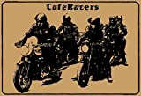 ComCard Cafe Racers Schild aus Blech, metallsign, Tin