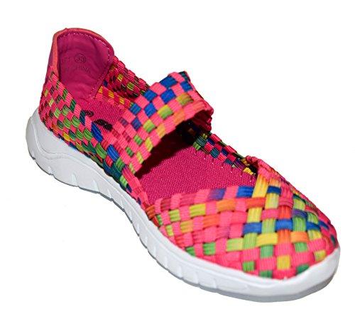 tmy de1371enfants Mary Jane Chaussures basses/Ballerine Fermée, Couleur Rose/multicolore Taille: 24–35 Multicolore - Pink/ Bunt