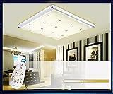LED Deckenleuchte 3906-100x63,extra dünn 9cm, mit Fernbedienung Lichtfarbe/Helligkeit einstellbar 80 W Energieeffizienzklasse: A+