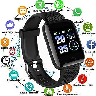 Reloj Smart Fitness Tracker, Reloj Inteligente a Prueba de Agua IP67 con Monitor de sueño con Contador de Pasos, Reloj podómetro para Hombres, Mujeres y niños