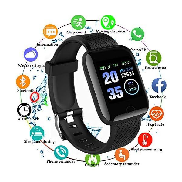 Reloj Smart Fitness Tracker, Reloj Inteligente a Prueba de Agua IP67 con Monitor de sueño con Contador de Pasos, Reloj… 2