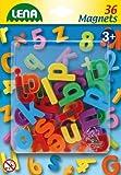 Lena 65746 - Magnet Kleinbuchstaben Set, mit 36 Buchstaben je ca. 3 cm groß, Magnetbuchstaben Set für Kinder ab 3 Jahre, magnetische Kleinbuchstaben für Magnettafel, Buchstabenmagnete zum Schreiben üben