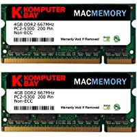 Komputerbay MACMEMORY Apple 8GB (2x 4GB) PC2-5300 667MHz DDR2 SODIMM iMac e Macbook memoria