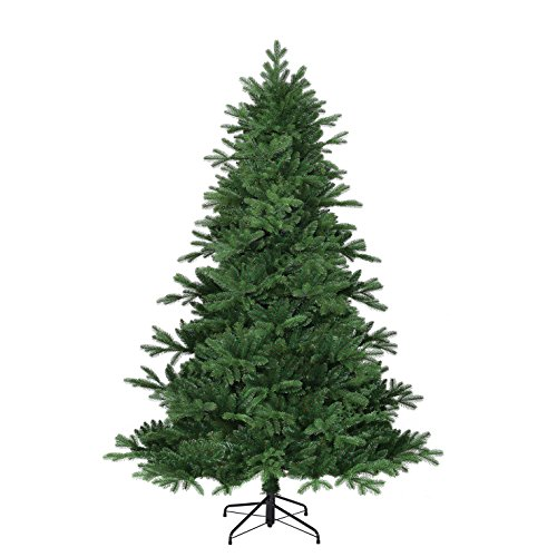 Black Box Trees 382756-02 albero di Natale artificiale Kiowa, altezza 185 cm, diametro 127 cm, 1458 rami, aghi in PE
