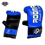 ROOMAIF - Guante de saco de boxeo Guantes de boxeo para entrenamiento Guantes Boxeo Saco Sparring Entrenamiento Mitones Muay Thai Kick Boxeo ES (Azul negro, L)