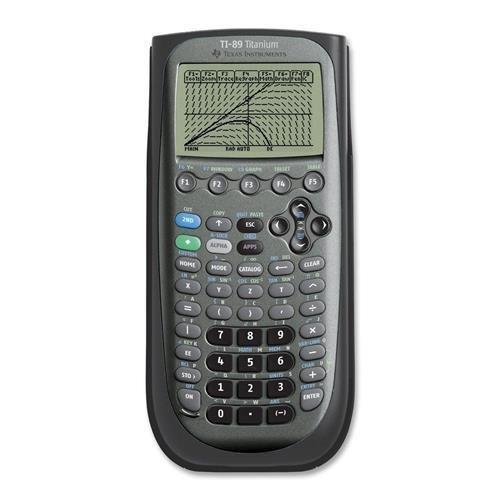 Grafischer Taschenrechner, mit USB-Kabel, 3-1 / 3 x7-1 / 2 x9 / 10 , Schwarz (TI-89 Titanium)