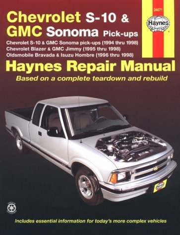 Haynes Chevrolet S-10 & Blazer, Gmc Sonoma & Jimmy, Oldsmobile Bravada, Isuzu Hombre Automotive Repair Manual: 1994 Thru 1998 (Haynes Automotive Repair Manuals) by Robert Maddox (1999-12-02)