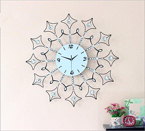 WSHWJ Tondo quarzo diamante orologio Soggiorno Camera da letto decorativo Orologio da parete Orologio da parete personalizzato , photo color , 75*75 - Ragazze Personalizzato Photo