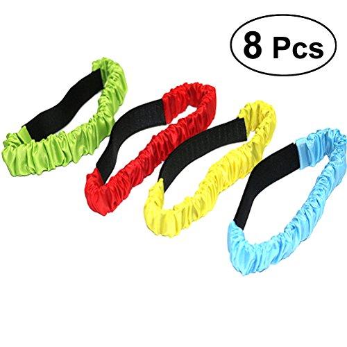 STOBOK 8pcs 3-beinige Race Bands elastische Krawatte für Feld Tag Hinterhof