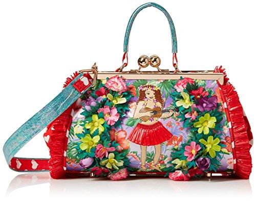Irregular Choice Do The Hula Bag, Bolsos de mano Mujer, Varios colores (Red), 16x18x28 cm (W x H L)