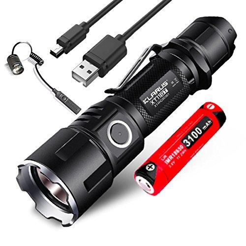 Preisvergleich Produktbild Klarus Taschenlampe xt11gt 2000Lumen integrierte Micro-USB Lade CREE LED Taktische Taschenlampe mit Akku und Fernbedienung Schalter