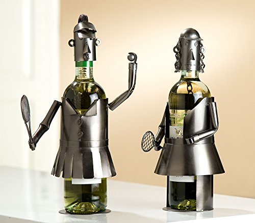 GILDE Weinflaschenhalter Tennis Damen Frauen Matsch Duo 2 Figuren