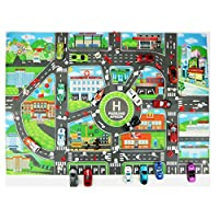 Loparker Kids Educational Toys City Parking Road Map Car Model Climbing Mats Style