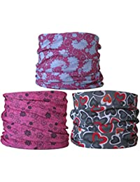 (3 Pack) Multifunctional Headwear. Neck Tubes (Ref B4) Ladies.