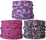 (Pacquete de 3) Braga para el Cuello, pañuelo de Microfibra multifunción, Las Mujeres, Las señoras (Ref B4)