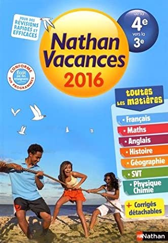 Nathan Vacances Collège - De la 4e vers la 3e