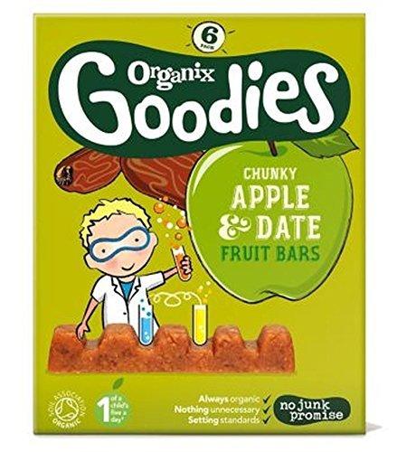 Organix Goodies Date & Apple Chunky Fruit Bars 6X17G (102G) by Organix