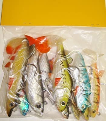 TraceAce Tackle 10 X Mixed Soft Pike Lures,Pike Baits,Pike Rigs,Pike fishing lures, pike plugs, pike spinners by TraceAce Tackle