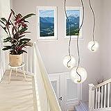 s.LUCE Glas-Pendelleuchte Sphere 40 mit loser Fassung Design-Glaslampe moderne Hängeleuchte Hängelampe Pendellampe