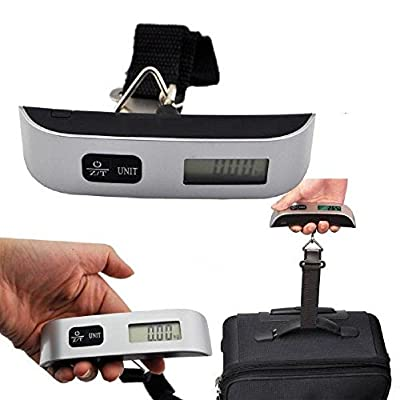 Digital luggage scales travel T shape 50KG Digital Luggage suitcase travel bag Hanging Weighing Scale with strap UK stock - cheap UK light shop.