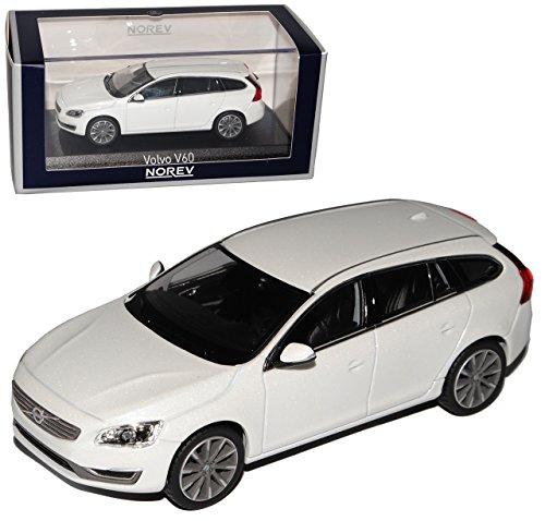 Preisvergleich Produktbild Volvo V60 Kombi Kristall Weiss Ab Facelift 2013 1/43 Norev Modell Auto