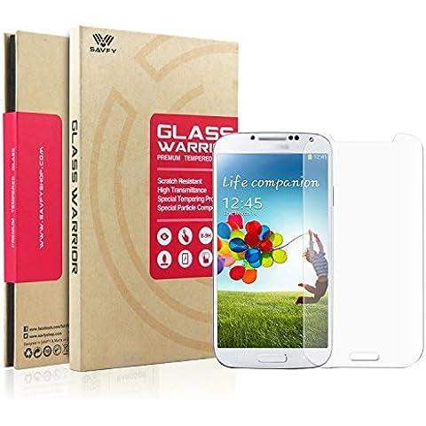 SAVFY® - Para Galaxy S4 i9500 - Vidrio Templado Protector de Pantalla Premium 0.3mm Resistente al Rayado Indice de Fuerza Ultra-9H de Dureza Alta