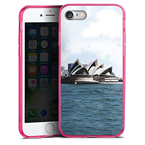 Apple iPhone 8 Silikon Hülle Case Schutzhülle Sydney Australien Opera House Silikon Colour Case pink