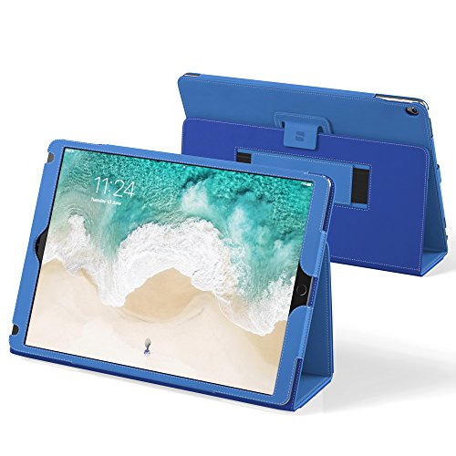 Snugg iPad Pro 12.9 2017 & 2015 Hülle Blau Leder iPad Pro 12.9 2017 & 2015 Schutz Klapphülle Case Cover Ständer für Apple iPad Pro 12.9 2017 & 2015