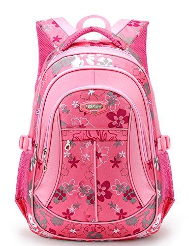 FREEMASTER Kinderrucksäcke Schulrucksäcke Schultasche Daypacks Backpack für Kinder Mädchen Jungen Jugendliche Schulrucksäcke mit Gurt M/S 45*30*16/ 41*27*13 CM 22/15 Liters (Pink, M)