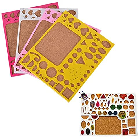 1 Pcs Paper Quilling Mold Mould Template Board,Circle Template Board, Quilling Kits Work Board,Color Random by Wetrys