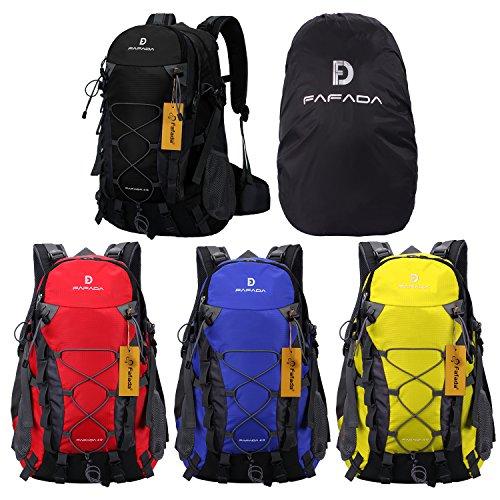 Wanderrucksack Herren Damen Fafada 40L Wasserdicht Rucksack Trekkingrucksack Reiserucksack Klettenrucksack mit Regenschutz
