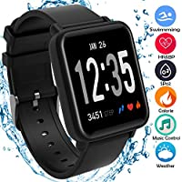 beaulyn Fitness Activity Trackers Watch Step Calorie HR BP SPO2 Monitor kids men women