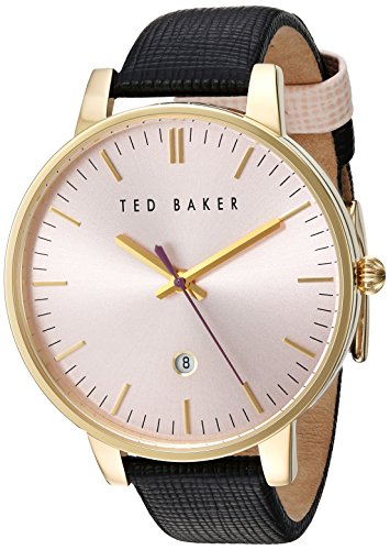 Ted Baker Women's 'Classic' Quartz Stainless Steel and Leather Dress Watch, Color:Pink (Model: 10030740)