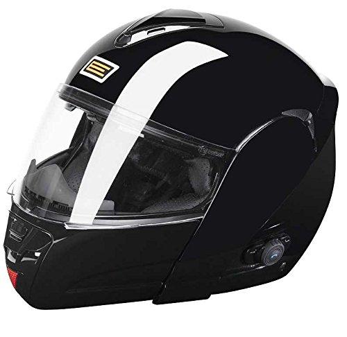 Origine Helmets Techno Flip-Up Casco Moto, Negro Brillante, XL