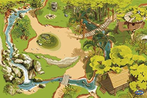 dschungel teppich Papo 60503 Teppich Dschungel, Spiel