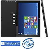 rotor® 10 pulgadas Tablet PC, pantalla IPS 800 x 1280 HD, Windows 10 tablet pc ,2 GB de RAM, 32 GB de memoria, Bluetooth, cámara, PC, Intel Atom procesador quad core CPU Ordenador, cámara dual con especial Ofertas