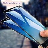 KTCOO 5D Curved 9H Full Screen Tempered Glass Screen Protector For Xiaomi Redmi Mi Note 5 Pro (Black)
