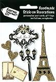 DIY Luxus- 3D-Sticker Paris Frankreich Glitter